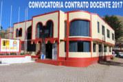 COMUNICADO Nº 026 – CONTRATO DOCENTE 2017