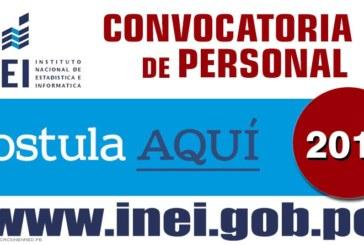 INEI: CONVOCATORIA PARA JEFES DISTRITALES (CENSOS NACIONAL 2017)
