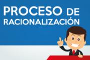 PROCESO DE RACIONALIZACIÓN: RANKING, PLAZAS EXCEDENTES, REQUERIMIENTO