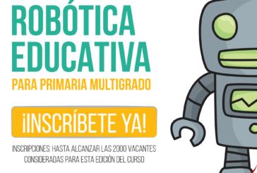 SEGUNDA EDICIÓN DEL CURSO DE ROBOTICA EDUCATIVA PARA PRIMARIA MULTIGRADO