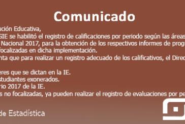 SIAGIE PRIMARIA: YA SE ENCUENTRA HABILITADO EL REGISTRO DE CALIFICACIONES