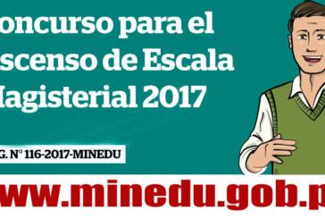 RESULTADO PRELIMINAR DE EVALUACIÓN DE ASCENSO DE ESCALA CETPRO 2017