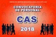 6º PROCESO CAS 2018 – CONVOCATORIA