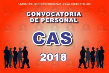 6º PROCESO CAS 2018 – RESULTADOS FINALES