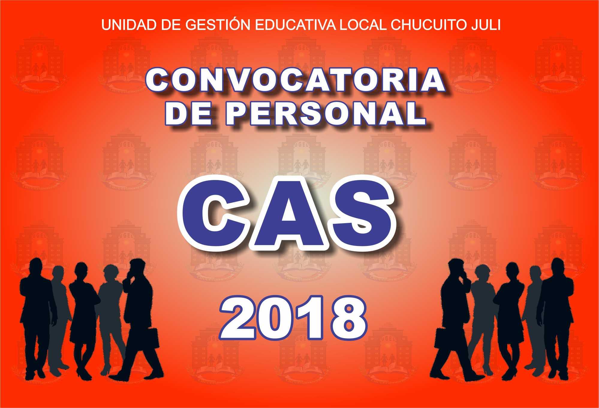 CRONOGRAMA DE ENTREVISTA PERSONAL – CAS 2018