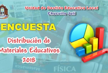ENCUESTA A DIRECTORES: MATERIALES EDUCATIVOS 2018