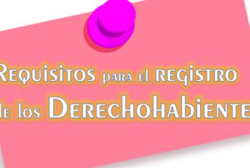 COMUNICADO – REGISTRO DE DERECHOHABIENTE 2018
