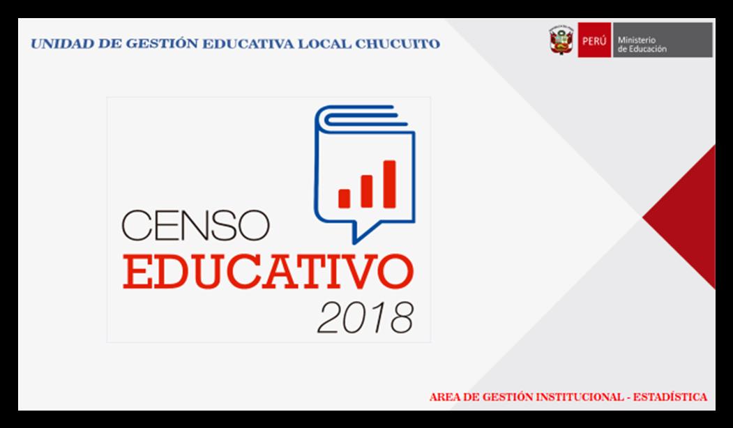 CRONOGRAMA DEL CENSO EDUCATIVO 2018 – MODULO I