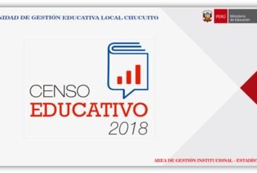 """CENSO EDUCATIVO 2018 CÉDULA """"11"""", DE II.EE. OMISAS INICIAL, PRIMARIA, SECUNDARIA, CEBA Y CETPRO"""