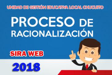 COMUNICADO URGENTE: OBSERVACIONES AL PROCESO DE RACIONALIZACIÓN 2018