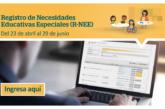 REGISTRO DE NECESIDADES EDUCATIVAS ESPECIALES (R-NEE)