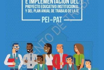 CONVOCATORIA A DIRECTORES (ver Anexo 1) A MESA DE TRABAJO EN PEI y PAT.