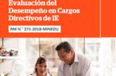 COMUNICADO 002 – EVALUACIÓN DEL DESEMPEÑO EN CARGOS DIRECTIVOS DE IE (CHARLAS INFORMATIVAS)