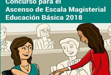 COMUNICADO N° 001 – CONCURSO PARA EL ASCENSO DE ESCALA MAGISTERIAL – EDUCACIÓN BÁSICA 2018