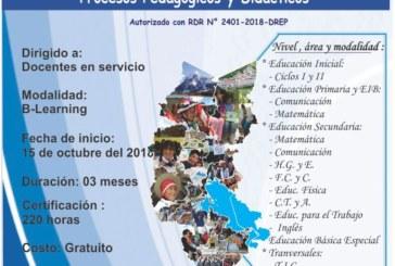 COMUNICADO DEL ESPECIALISTA DE COMUNICACIÓN Y MATEMÁTICA – CURSO VIRTUAL DREP