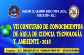 VII CONCURSO DE CONOCIMIENTOS DEL ÁREA DE C. T. A. 2018