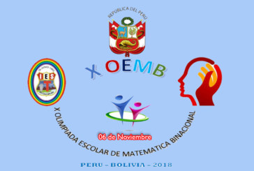 X OLIMPIADA ESCOLAR DE MATEMÁTICA BINACIONAL