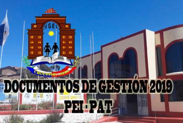 ACTUALIZACIÓN DEINSTRUMENTOS DE GESTIÓN EDUCATIVA 2019