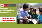 NOMBRAMIENTO DOCENTE 2018 – COMUNICADO 001: COMITÉ UGEL (Sorteo de Grado y Sección )