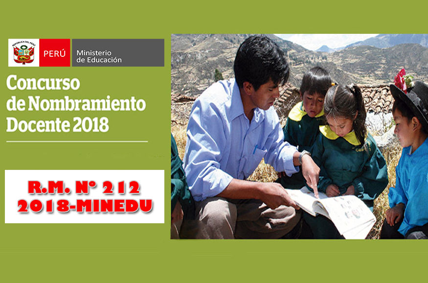 NOMBRAMIENTO DOCENTE 2018 – IMPLEMENTACIÓN DE LA ETAPA DESCENTRALIZADA DEL CONCURSO PÚBLICO DE INGRESO A LA CPM