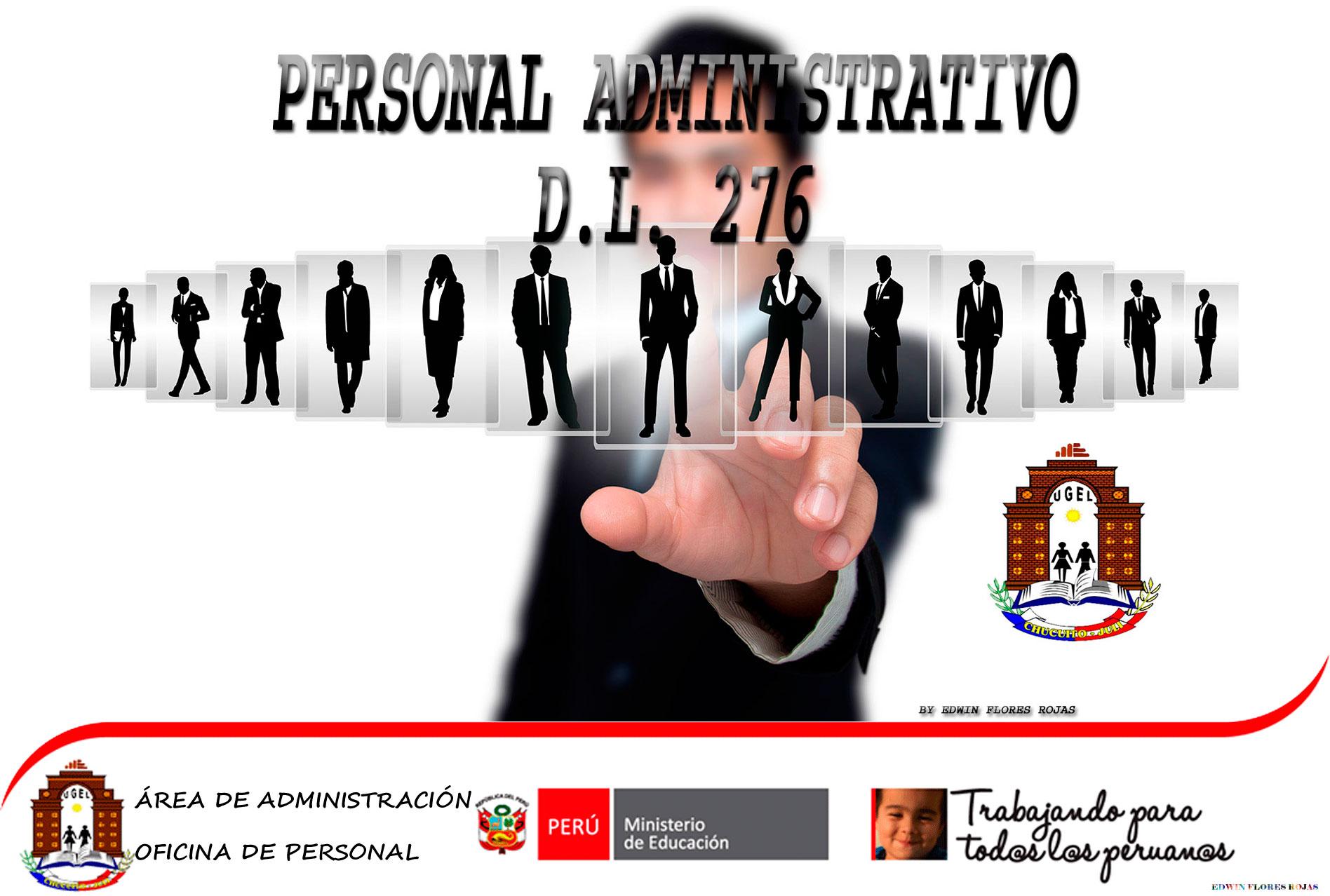 COMUNICADO – PROCESO DE NOMBRAMIENTO PERSONAL ADMINISTRATIVO D.L. 276 UGEL CHUCUITO 2019