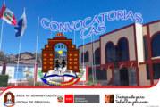 RESULTADOS FINALES – CONVOCATORIA: CONTRATO ADMINISTRATIVO DE SERVICIOS (CAS – SEDE UGEL CHUCUITO 2020)