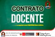 COMUNICADO 009-CONTRATO DOCENTE 2020 FASE I. (FORTALECIMIENTO DE LA EDUCACIÓN FÍSICA – EDUC. PRIMARIA)