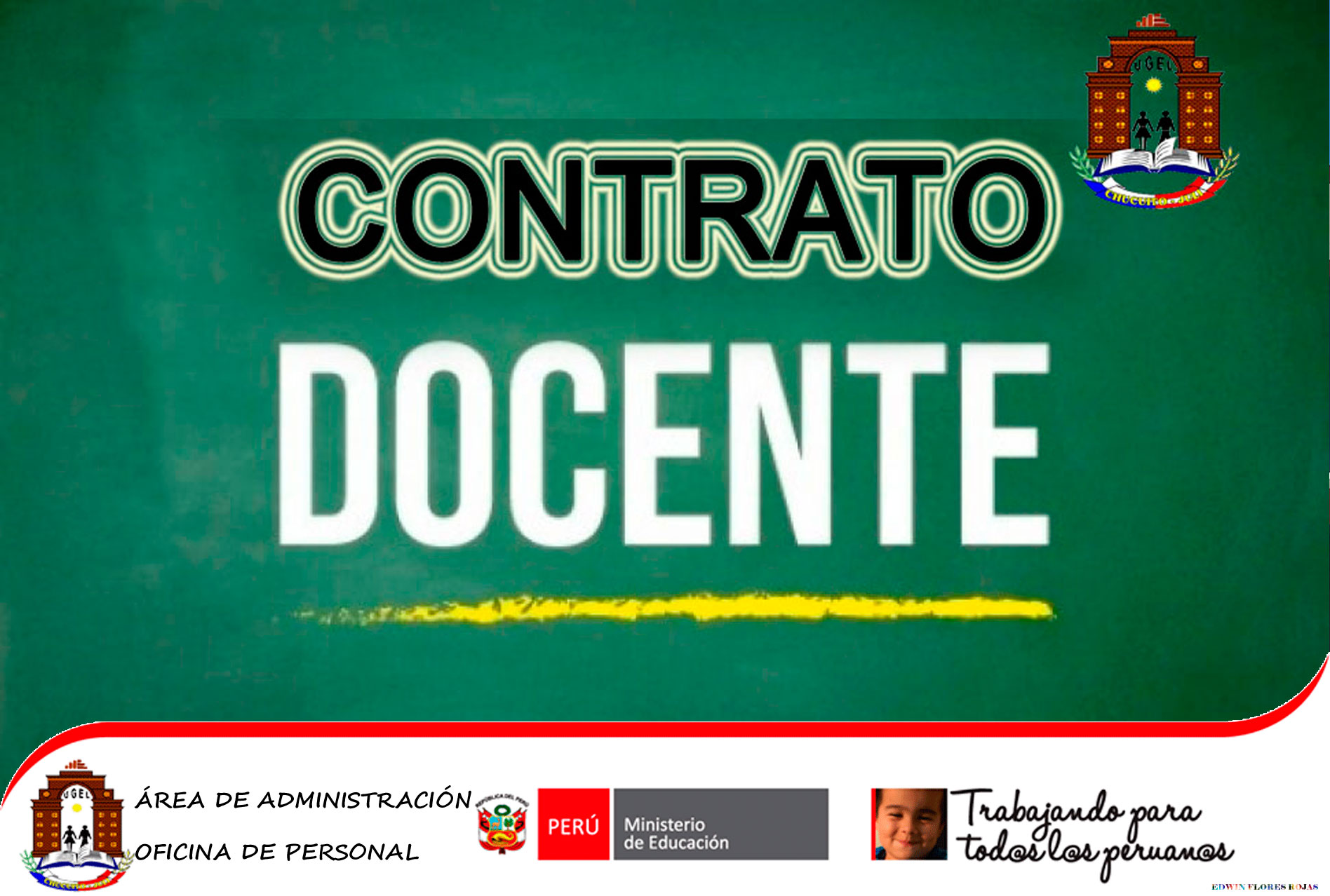 CONVOCATORIA: CONTRATO DOCENTE 2019. CETPRO «SAN MARTÍN» DE PISACOMA.