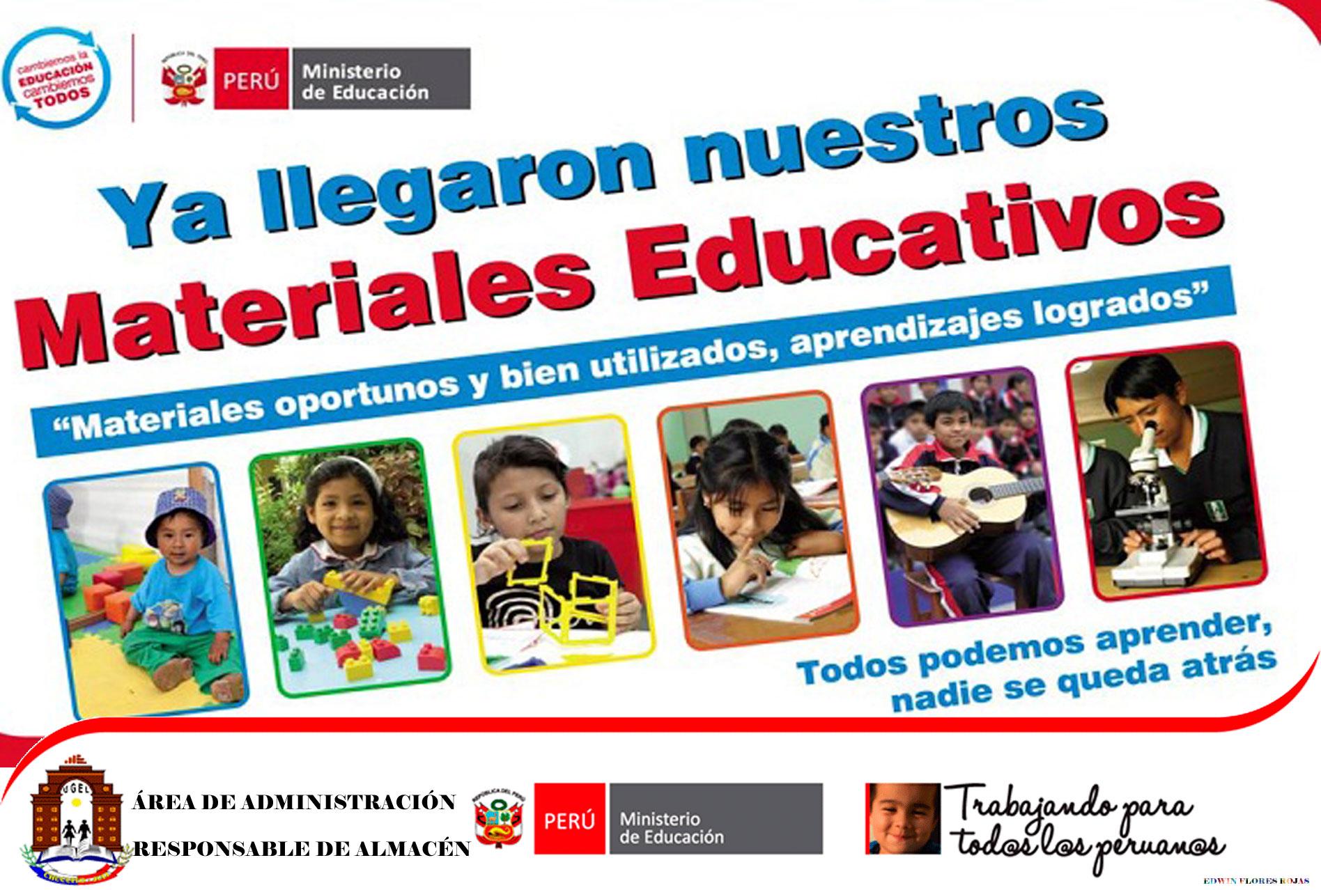 CRONOGRAMA: DISTRIBUCIÓN DE MATERIALES EDUCATIVOS I Y II TRIMESTRE.