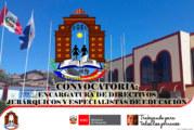 RESULTADOS FINALES – PROCESO DE ENCARGO DE CARGOS DIRECTIVOS. ETAPA II – SELECCIÓN ESPECIAL – PROCESO Y ADJUDICACIÓN VIRTUAL. COMUNICADO N° 018-2020