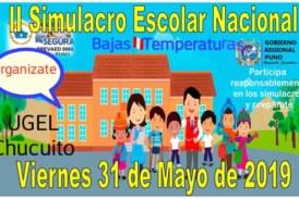 II SIMULACRO NACIONAL ESCOLAR POR BAJAS TEMPERATURAS
