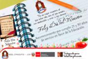 INVITACIÓN A CEREMONIA DE RECONOCIMIENTO A DOCENTES QUE CUMPLEN 25 Y 30 AÑOS DE SERVICIO.