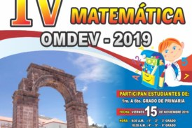 IV OLIMPIADA REGIONAL DE MATEMATICA «OMDEV-2019»