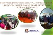 Área de Gestión Pedagógica Junto a Lideres Pedagógicos.