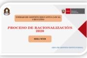 OFICIO MÚLTIPLE Y CRONOGRAMA DEL PROCESO DE RACIONALIZACIÓN 2020 – UGEL CHUCUITO