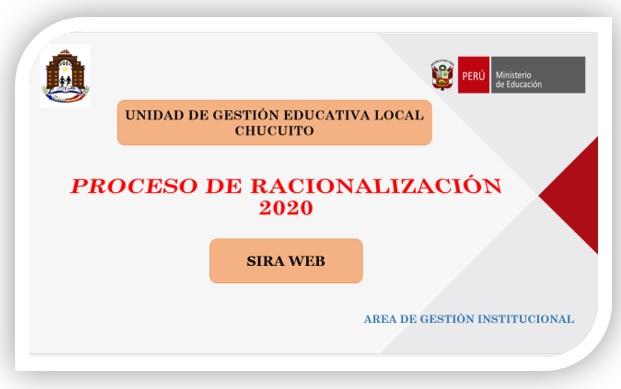 COMUNICADO N°001-2020: SUSPENSIÓN DE LAS ETAPAS DEL PROCESO DE RACIONALIZACIÓN 2020