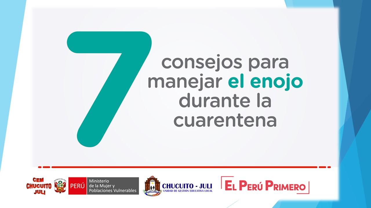 EL CENTRO EMERGENCIA MUJER Y LA UGEL  CHUCUITO – JULI, LES RECUERDA…CANALICEMOS DE MEJOR MANERA NUESTRO ENOJO