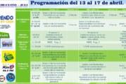 HORARIOS, ÁREAS Y TEMAS DEL 13 AL 17 DE ABRIL (RADIO)