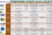 PROGRAMACIÓN DE RADIO DEL 20 AL 24 DE ABRIL
