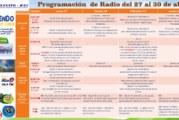 Programación de radio del 27 al 30 de abril. Yo Aprendo en Casa.