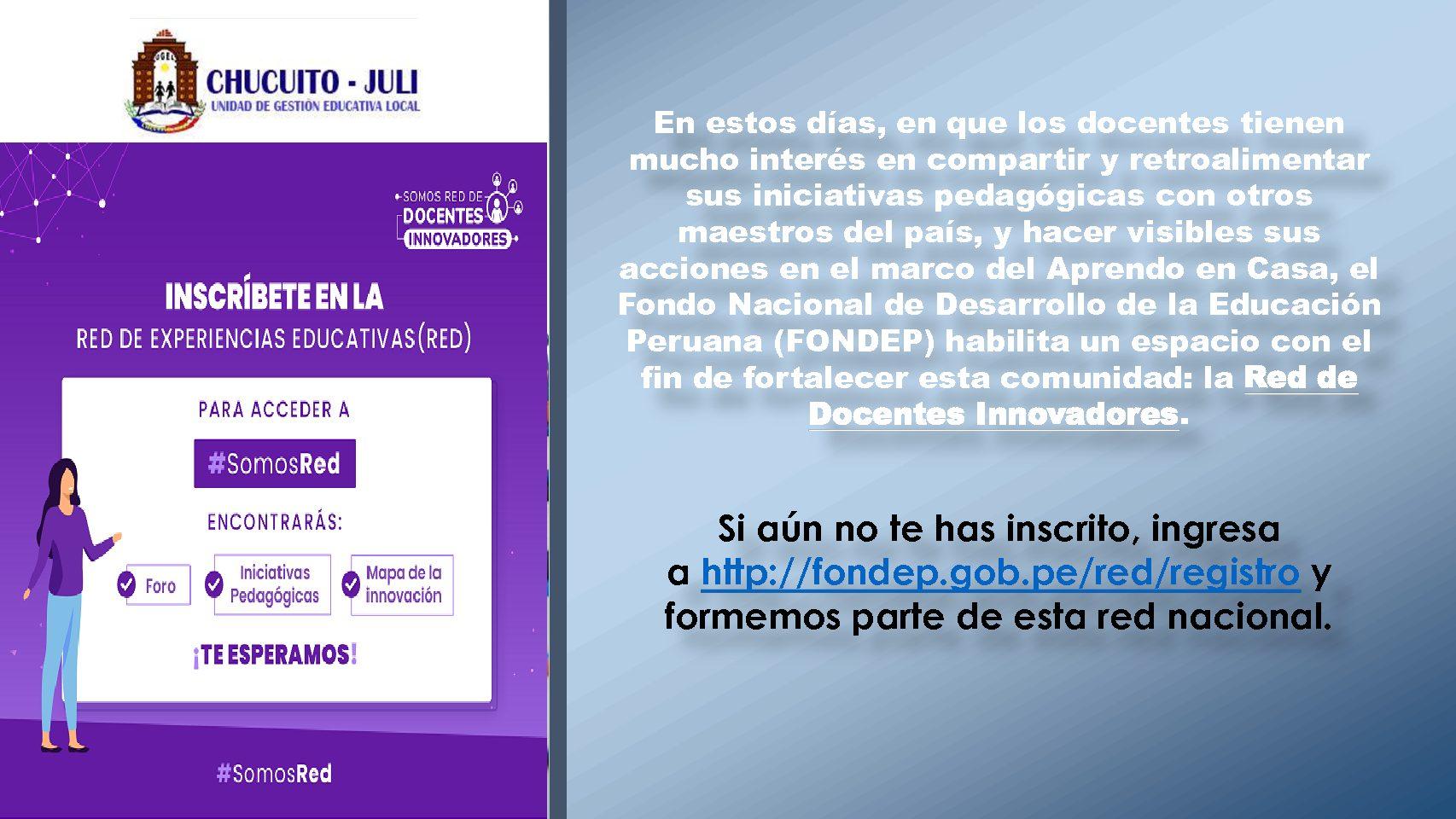 (FONDEP) HABILITA LA RED DE DOCENTES INNOVADORES