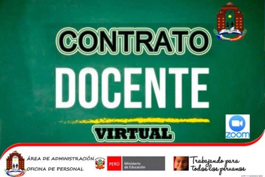 CONVOCATORIA: CONTRATO DOCENTE VIRTUAL – COMUNICADO 021-2020-UGEL.CHJ/C.C.DOC.