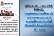 OFICIO MÚLTIPLE N°099-2020-GR-PUNO-GRDS-DRE-PUNO.
