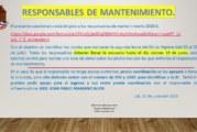 RESPONSABLES DE MANTENIMIENTO DEBERÁN LLENAR LA ENCUESTA,  PLAZO: VIERNES 19 DE JUNIO
