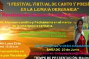 I FESTIVAL DE ´POESIA Y CANTO  EN LEGUA ORIGINARIA- AÑO NUEVO ANDINO Y DÍA DEL CAMPESINO 2020 ( VIDEOS)
