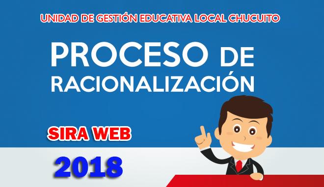 REPROGRAMACIÓN DE RACIONALIZACIÓN 2018 DEL PERSONAL ADMINISTRATIVO Y AUXILIAR DE EDUCACIÓN