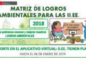 ORIENTACIONES PARA EL REPORTE, EVALUACIÓN Y RECONOCIMIENTO DE LOGROS AMBIENTALES 2018
