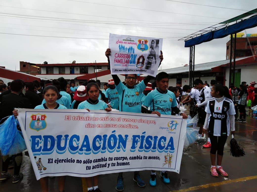 CARRERA FAMILIAR 3K SE EFECTUÓ EN DIFERENTES INSTITUCIONES EDUCATIVAS
