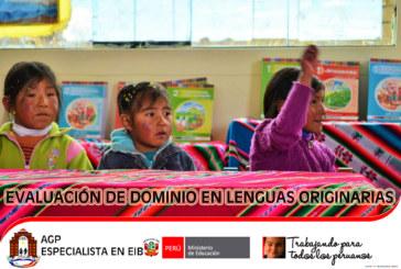 EVALUACIÓN ESCRITA EN LENGUAS ORIGINARIAS (08 de junio)