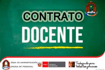 COMUNICADO N° 39 – CONTRATO DOCENTE 2019.